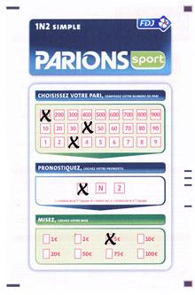 Un bulletin simple 1n2 argent facile rapide simple - Grille parions sport pronostics ...